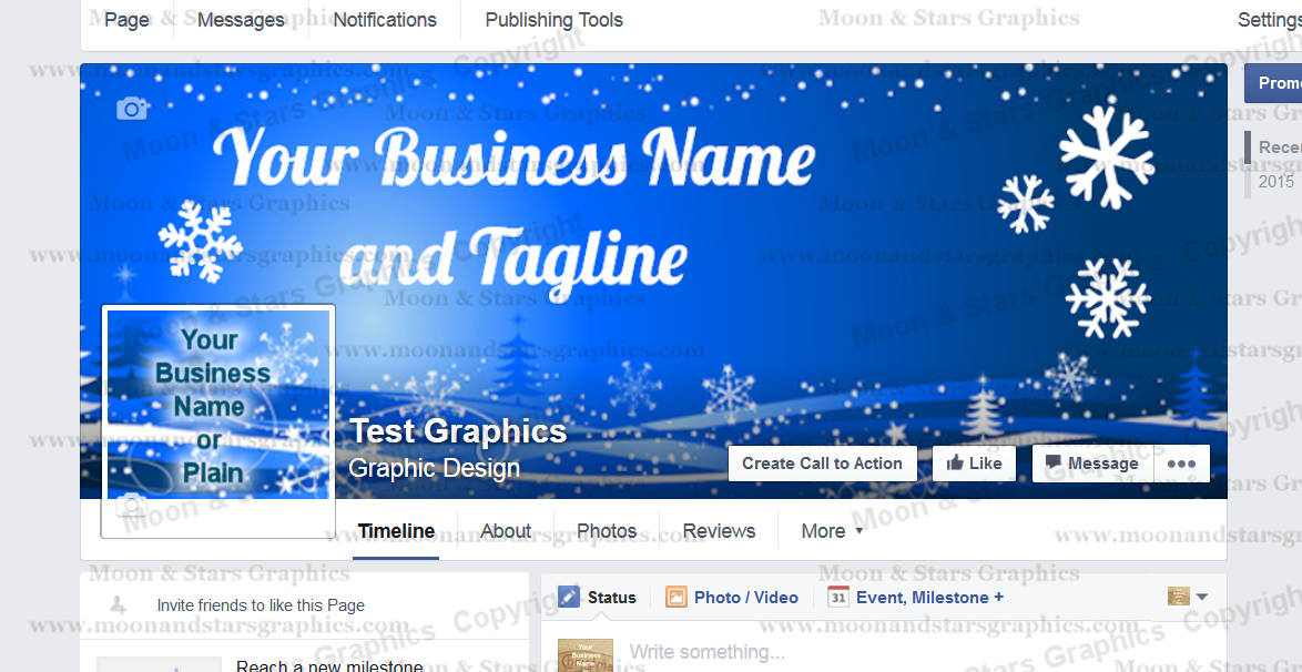 Facebook Cover Blue Xmas1