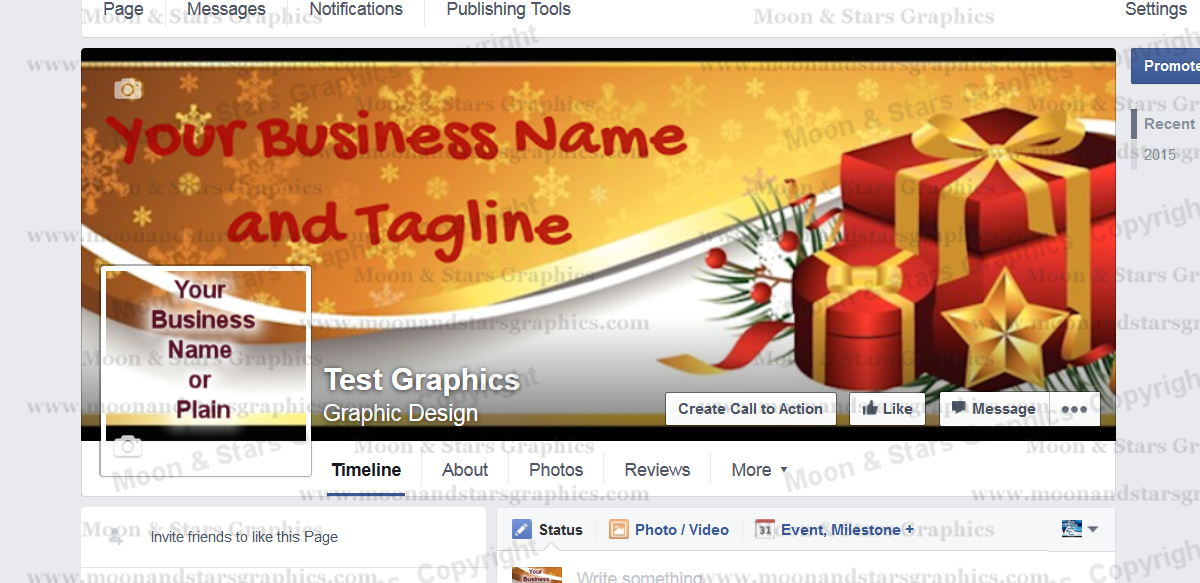 Facebook Cover Gold Xmas1