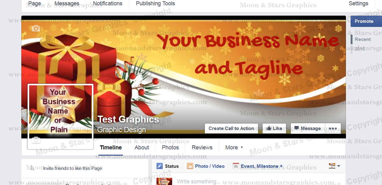 Facebook Cover Gold Xmas2