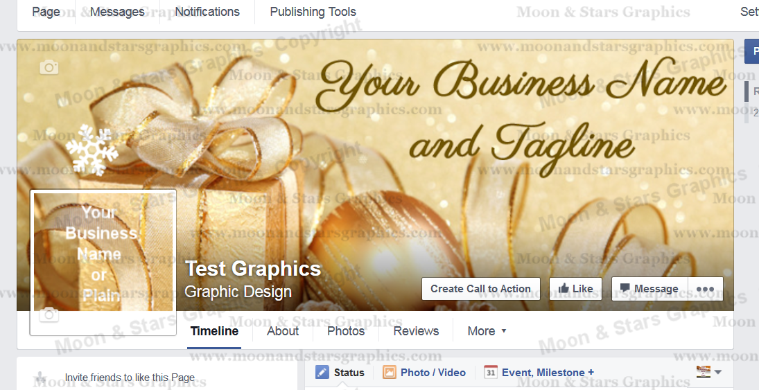 Facebook Cover Gold Xmas3