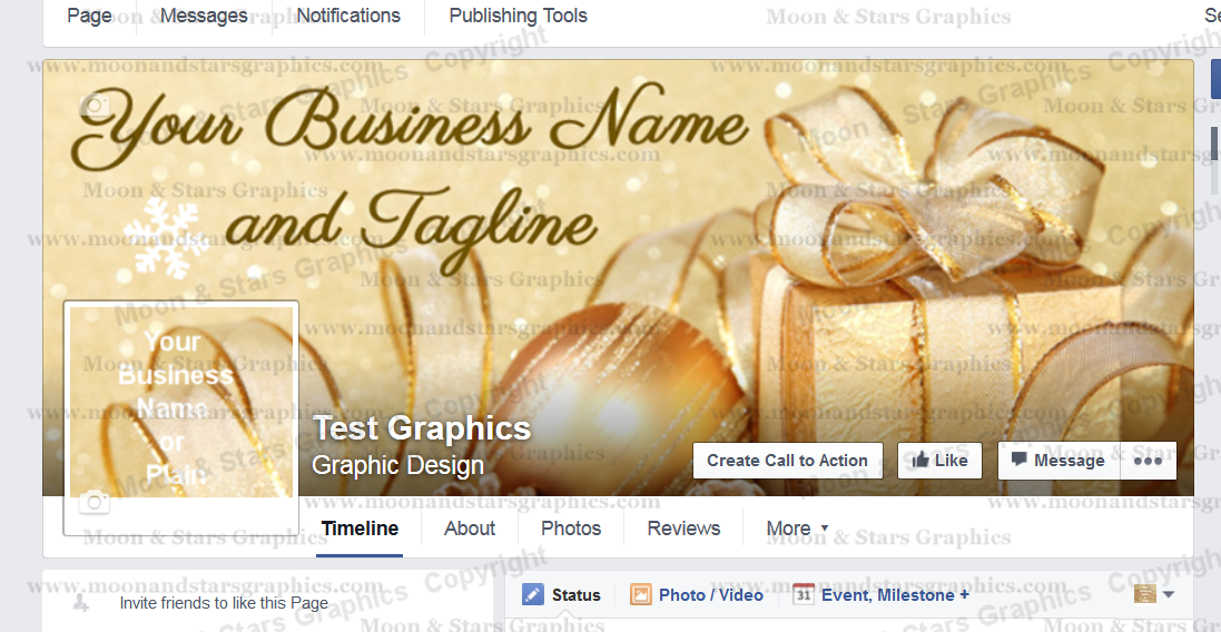 Facebook Cover Gold Xmas4