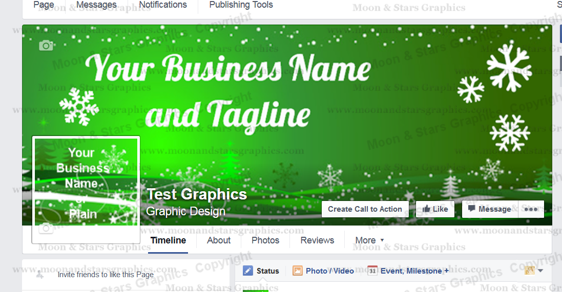 Facebook Cover Green Xmas1