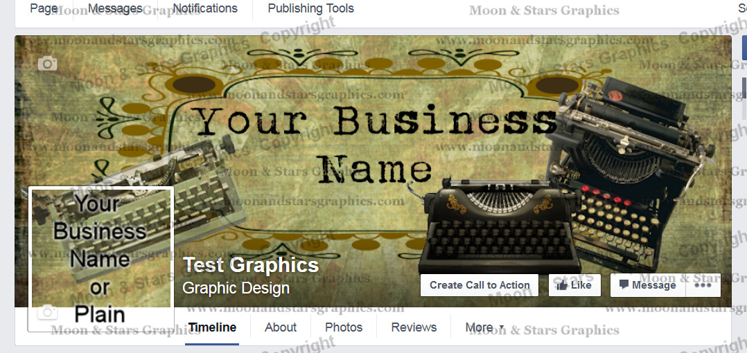 Facebook Cover Typewriter